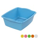 Dish Pan Rectangular 6 Colors 15x12x5 #pb007