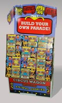 Cookies Animal Crackers Circus Wagon 1.75oz In 144pc Floor Disp