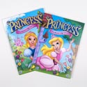 Color/activity Book Princess Foil/embossed In 24 Pc Pdq Made In Usa
