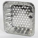 Aluminum Foil Bbq Grill Basket Bulk No Label 2835pc Gaylord 10.5 X 10.5 In