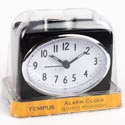 Clock Alarm Black W/white Face Quartz Movement #tc1509afd