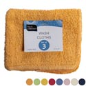 Wash Cloths 3pk 11 X 11 Assorted Colors - See N2 Peggable # 2120-3wc