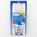 Cotton Swabs 375ct Plastic Stick Carded