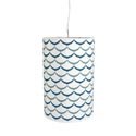 Lamp Drum Pendant 12 X 18 Wave Brown Boxed (35.00)
