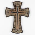 Cross 10in Poly Resin Wall Rock And Nails (13.00)