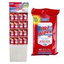 Wet Wipes 40ct 144pc Display Anti-bacterial Travel Pack
