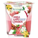 Candle Scented 2-n-1 3 Oz Jar Vanilla And Apple Cinnamon