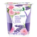 Candle Scented 2-n-1 3 Oz Jar Rose & Lavender & Peach Blossom