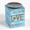 Candle Pillar Holder 3 X 5 Mdf All You Need Is Love (5.50)
