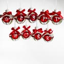 Ornament Led Lighted Monogram 10 Asst In Case See N2 (5.00)