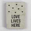 Magnet Love Lives Here 3x3.75 Mdf (3.00)