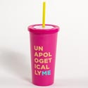 Tumbler Insulated W/straw 20 Oz Unapologetically Me (7.50)