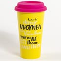 Travel Thermal Mug 15 Oz Porcelain Strong Women (7.50) Silicone Lid