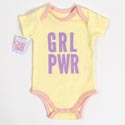 Baby Onesie 3-6m Cotton Grl Pwr On Hanger (8.50)