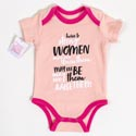 Baby Onesie 3-6m Cotton Strong Women On Hanger (8.50)