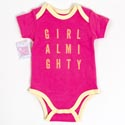 Baby Onesie 3-6m Cotton Girl Almighty On Hanger (8.50)