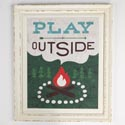Wall Art Play Outside Framed Wood 15.1x18.1 (22.50)
