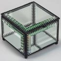 Jewelry Box Square Mirror 4.75 X 4.75 W/filigree (18.50)