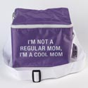 Cooler Bag 6x8x5 Nylon Insulated Cool Mom (8.50) Purple