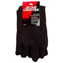 Gloves Mens Brown Jersey Lined One Size Fits Most