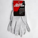 Gloves Multi Purpose Large White Knit