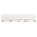 Hook Rail Board Wooden 24 X 6 W/5 Metal Hooks White (15.95)