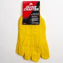 Gloves Mens 14oz Yellow Thermo Fleece