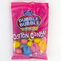 Bubble Gum Dubble Bubble 4 Oz Cotton Candy Peg Bag 3 Asst Flav