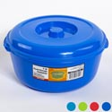 Food Storage Container With Lid 3 Qt 9d X 4 5/8h 4 Colors In Pdq #omega Bowl 5