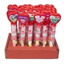 Valentine Candy Heart Tube With Conversation Hearts 1.1 Oz