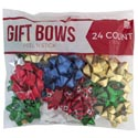 Bows Christmas 24ct Peel N Stick Asst Clrs Luxury 2 Sizes *5.99* #14246423-bg24x