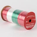 Ribbon Curling 400ft Spool Red/white/green Christmas *2.00*