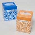 Facial Tissue 86ct Cube 2 Ply Abstract Design