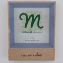 Photo Frame Two Of A Kind W/4x4 Opening Mdf (4.25)
