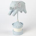 Figurine Elephant On Stand Resin 6.6 X 9.4 Blue (14.50)