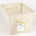 Storage Bin Tapered 9.75 X 13 Natural Canvas Fabric *10.99* Tote W/handles #sft-01499