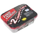 Food Storage Container 2pk Disposable 2 Comp In Pdq Clear Bottom/red Lid Colors