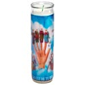 Candle 8in Religious Glass Jar Powerful Hand
