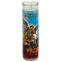 Candle 8in Religious Glass Jar St.michael Archangel/san Miguel Arcangel Bi-lingual