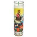 Candle 8in Religious Glass Jar Our Lady Of Carmen