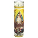 Candle 8in Religious Glass Jar Our Lady Of Charity