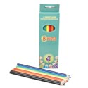 Pencils Colored 8ct Peggable Box #cpc-8 See N2