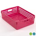 Basket Plastic Assorted Colors 11 X 8 X 3.5