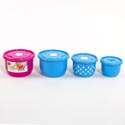 Food Storage Container 6pc Vented Round Asst Colors