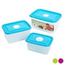 Food Storage Container 6pc Vented Rectangular Asst Colors