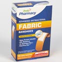 Bandages 30ct Fabric Antibacterial Boxed Freds Pharmacy Label
