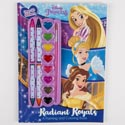 Color & Paint Book 128pg W/paint & Crayons Disney *9.99* Princess Royals #001855