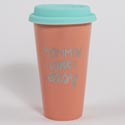 Travel Thermal Mug 15 Oz Mommin Aint Easy Porcelain(7.50) Silicone Lid