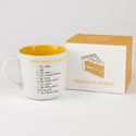 Mug 15.5 Oz Banana Chocolate Chip Cake Stoneware Boxed (6.00)