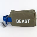 Dopp Bag 5x8 Cotton Canvas Beast Green (9.50)